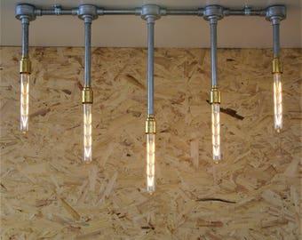 Lustre de Style Vintage industriel glaçon, plus LED lampes