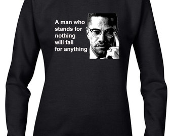 Malcolm X Face Unisex Pull Over Hoodie - Black Panthers Party Quote Malcolm X Civil Rights