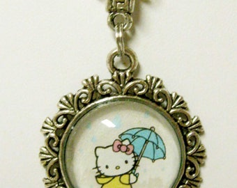 Hello Kitty - Rain storm Kitty pendant and chain - CAP17-005