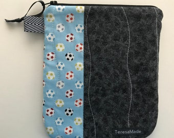 Small Soccer Zip Pouch