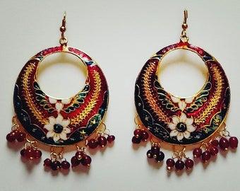 Floral Mistique: Contemporary earrings