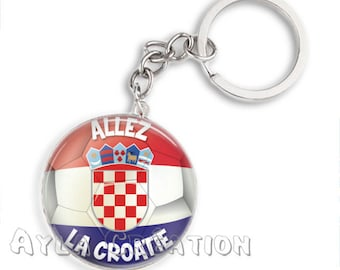 Kit porte clés Coupe du monde 2018, mondial 2018, Russia 2018, football, supporter, porte cles CROATIE