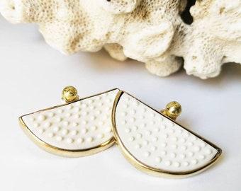 Porcelain contemporary earrings