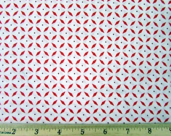 Soho Red White Fabric From Quilting Treasures