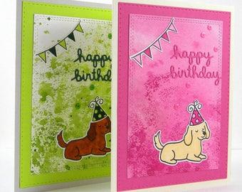 Setter Birthday Card, Yellow Lab Birthday Card, Golden Retriever Birthday Card, Spaniel Birthday Card, Dog Birthday Card