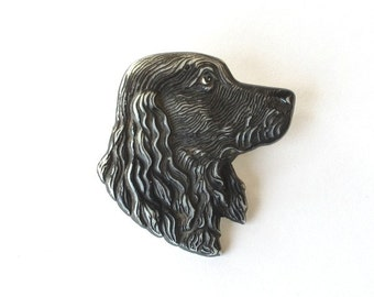 Dog Profile Pin Brooch Pendant