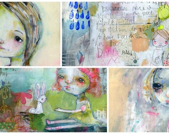 Permission to Play mixed media online workshop - by Mindy Lacefield