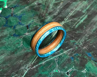 Wood Ring (Custom-fit) | Made From Recycled Skateboards