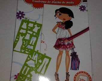 fashion girl sketch Kit / pattern, model woman