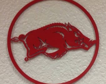 Small - Razorback Circle Wall Art