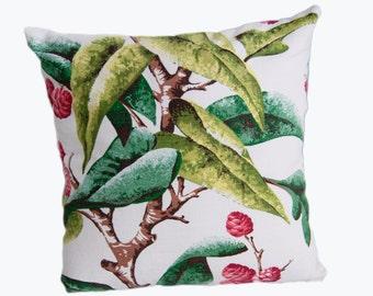 MID CENTURY Vivid Vintage Bark Cloth Pillow Cover 18x18 Magnificient Colors