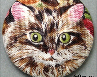 -Cat - fabric covered button cat European - (40-52)