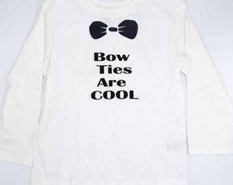 Bow Ties Are Cool Toddler Shirt, raglan t-shirt, Dr Who, toddler clothing, long sleeved, children