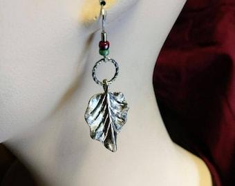 Silver Leaf Dangles