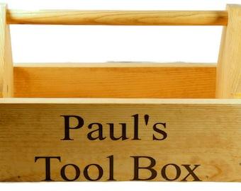 Childrens Wooden Toolbox - Caddy - Desk Organizer - Wooden Toolbox - Tool Caddy - kids toolbox - kids caddy - kids tools - tool set