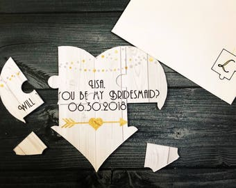Will you be my Bridesmaid Puzzle, Bridesmaid Proposal Puzzle, Maid of Honor, Matron of Honor, Flower Girl Puzzle