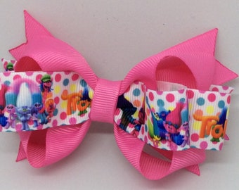 Trolls loopy hair bow