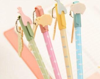 Animal Cute Pens / Kawaii Pens / Fine Point Pens / Cute Gel Pens / Kawaii Gel Pens / Cute Gel Ink Pens / Cute Ruler Keychain Pens