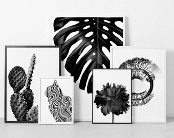 Printable Set, Art Print Set, Set of 5 Prints, Wall Decor Set, Wall Art Set of 5, Beautiful Decor, Beautiful Designs, Affordable Wall Art