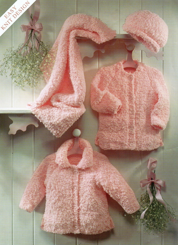 baby jackets hat and blanket chunky chenille cardigans newborn