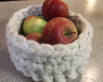 Mini Crochet Basket Fruit Storage Dorm Bath Basket