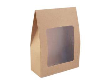 3 bag gift 9 x 13 cm crystal window