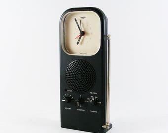 Rare vintage Rowenta Quarz 1980s Radio Clock Made in West Germany