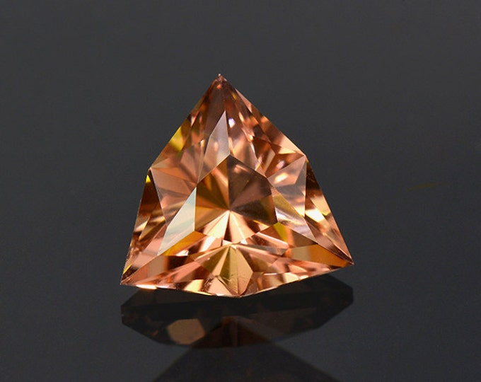 Unique Peach Sorbet Colored Custom Faceted Tourmaline Gemstone from Nigeria 2.17 cts.