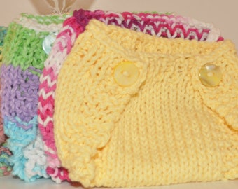 Knit Baby Diaper Cover (Newborn) - many colours available