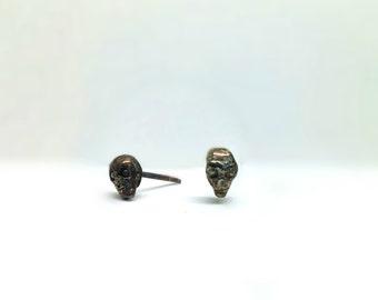 Zombie Skull Stud Earrings