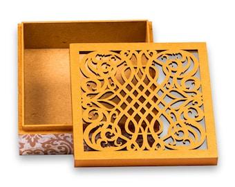 laser cut box | wedding gift box | wedding box | gift box | jewelry box| trinket box | bridesmaid gift box||mothers day gift