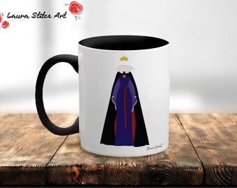 Disney's Evil Queen  Villain Mug - minimalist snow white mirror evil queen apple magic villain evil mug