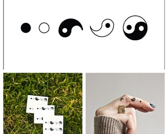 Yin Yang - temporary tattoo (Set of 4)