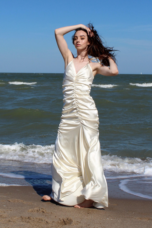 Geraffte Hochzeit Kleid Frauen Jessica McClintock kleine