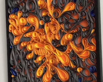 Modern Art Quilling on Canvas