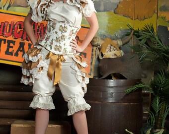 Steampunk Burlesque Silk  Bustle    Victorian Decadence Gothic  Lolita By Ophelias Folly