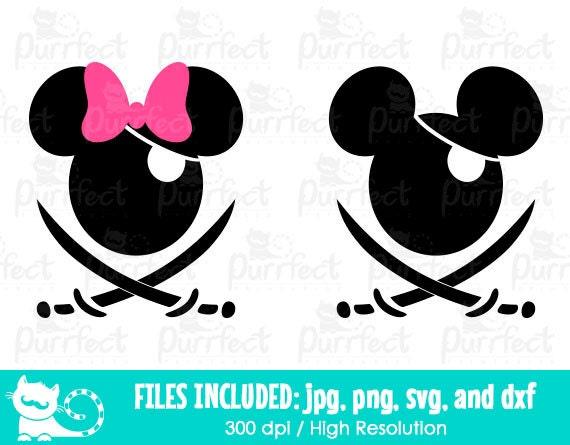 Mickey and Minnie Pirates SVG Disney