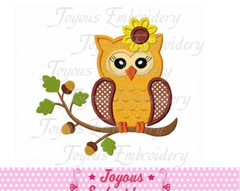 Instant Download Fall Girl Owl  Applique Machine Embroidery Design NO:1396