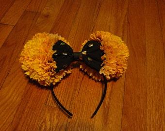 Floral Mickey Mouse Ears Headband