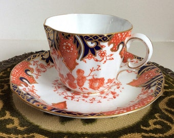 Royal Crown Derby c1901 Pattern 2712 Imari Tea Cup and Saucer