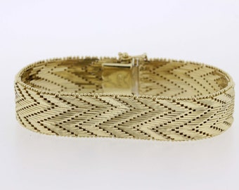 14K Yellow Gold Zig-Zag Linked bracelet