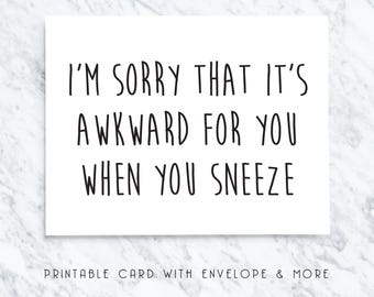 mothers day from husband, happy mothers day, mothers day card, card from husband, funny card, sneeze card, sneeze mom card, mom card
