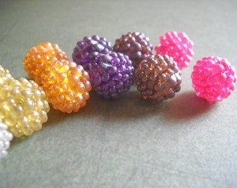 Berry Beads Bumpy Beads Acrylic Beads Assorted Beads Wholesale Beads 14mm Beads Plastic Beads Big Beads Set 10 pieces