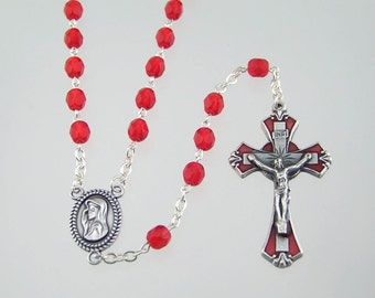 July Birthstone Rosary