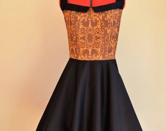 Vintage Inspired Dress / Rockabilly Dress / Swing Dress / Circle Dress / Pinup Dress