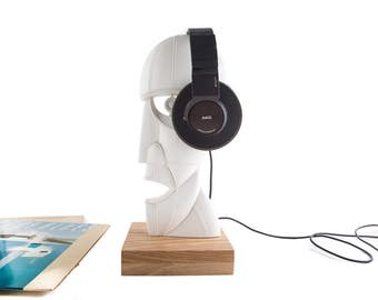 Headphone stand // Headphone holder //  sculpture/bust // statue for music lover/FREE SHIPPING WORLDWIDE