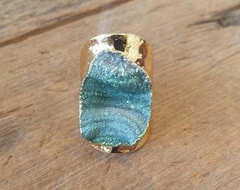 Teal Galaxy Ring