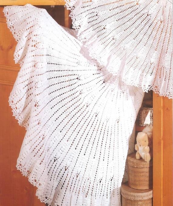 Crochet Pattern Baby Shawls Circular shawls in 2 ply and 3