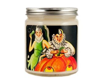 Halloween Decor, Halloween Candle, Scented Candle, Soy Candle, Vintage Halloween, Container Candle, Halloween Decoration, Fall Decor
