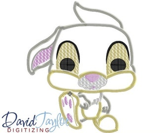 Pop Bambi Thumper - 4x4, 5x7 and 6x10 in 9 formats - Applique - Instant Download - David Taylor Digitizing